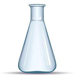 Empty chemical flask isolated on white background vector image