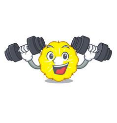 fitness pineapple slice character cartoon vector image
