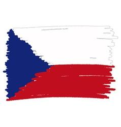 Flag of Czech handmade vector image