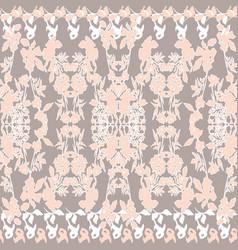 floral seamless pattern black leaves flowers vector image