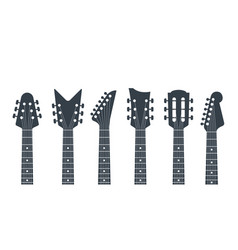Guitars headstock electric neck abstract vector