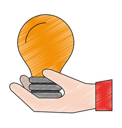 Hand with bulb vector
