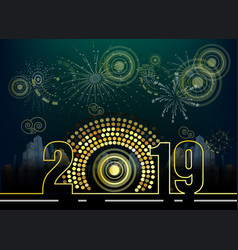 Happy new year 2019 chienese new year year of the vector
