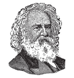 henry longfellow vintage vector image