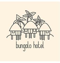 hotel bungalo beige vector image