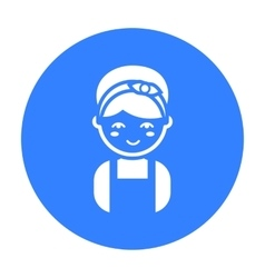 Housewife black icon for web and vector