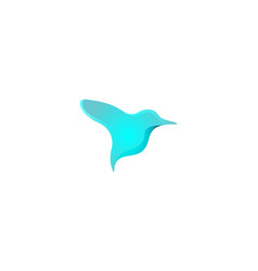 humming bird logo designs inspiration isolated on vector image