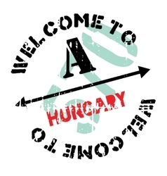 Hungary stamp rubber grunge vector