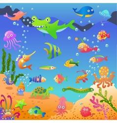 in sea vector image