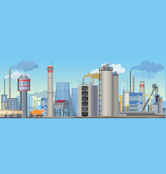 industrial landscape with factories and vector image