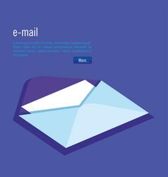 Isometric envelope digital technology vector