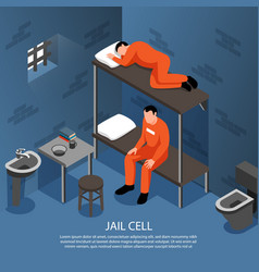 Jail cell isometric vector