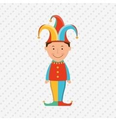 jester carnival design vector image