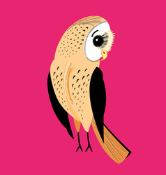 large graphic owl vector image