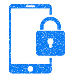 lock smartphone grunge icon vector image