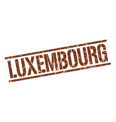 Luxembourg brown square stamp vector