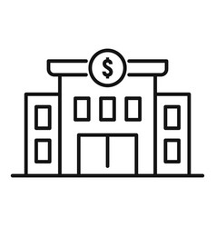 Millionaire house icon outline style vector