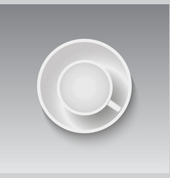 mock up coffee cup top view vector image
