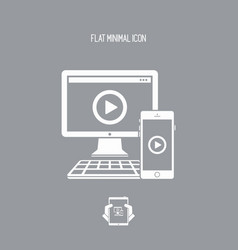 Multi devices video streaming vector