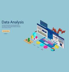 online statistics and data analytics concept banne vector image