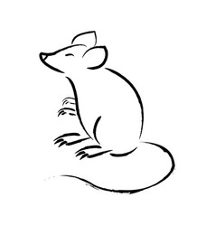 outline draw mouse vector image