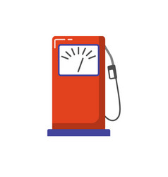 petrol filling station icon in flat style vector image