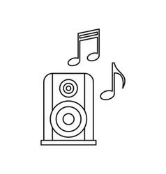 Portable music speacker icon outline style vector image vector image