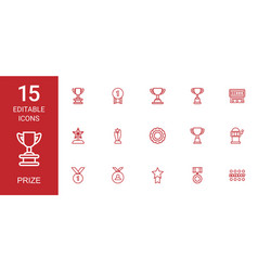 prize icons vector image