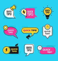 Quick tips graphic outline shapes tricks vector