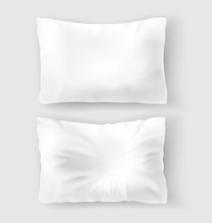 Realistic set with blank white pillows vector