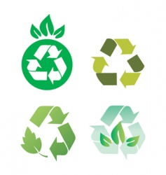Recycling icon vector