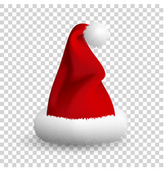 santa claus hat isolated on white background vector image