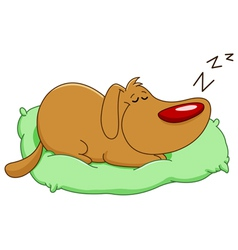 sleeping dog vector image