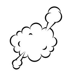 Splash bubble comic isolated icon vector
