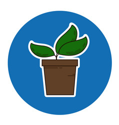 sprout in flowerpot icon vector image