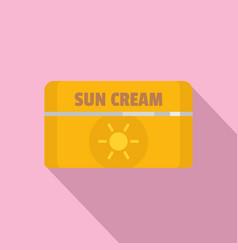 sun cream icon flat style vector image