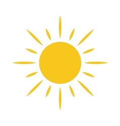 Sun icon Light sign sunbeams yellow design element vector image