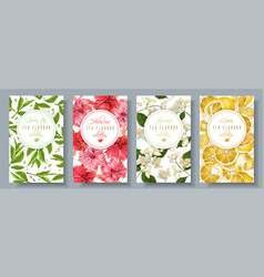 Tea flavour banners set vector