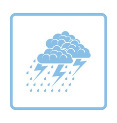 Thunderstorm icon vector image