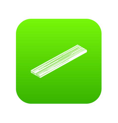 Timber plank icon green vector