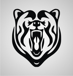 Tribal Bear Head vector