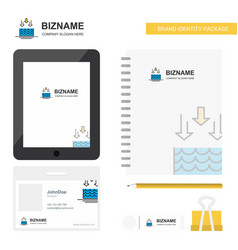 Water evaporation business logo tab app diary pvc vector