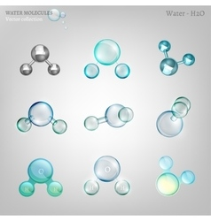 Water molecules set vector