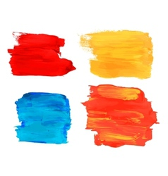 Collection of artistic paint banners vector image