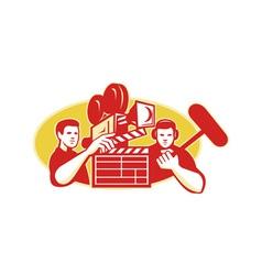 Film Director Movie Camera Clapper Soundman vector image vector image