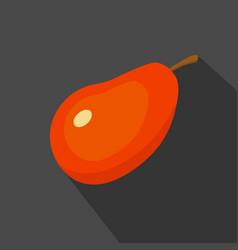 mango cartoon flat icondark blue background vector image