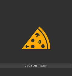 pizza icon simple vector image