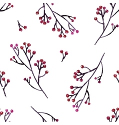 Seamless hand floral pattern vector image vector image
