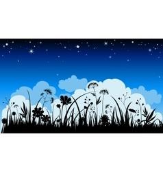 Summer night background vector image