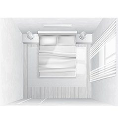 top view bedroom vector image